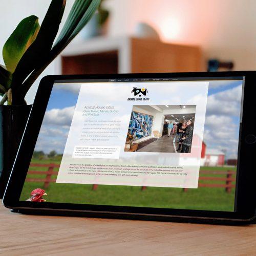 Artist Website Design, Fun Playful Mosaic Wordpress Theme, Atlanta Agency