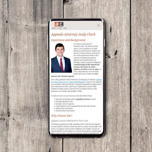 Atlanta Law Firm Website Design, Mobile, Responsive, Designer Portfolio Example