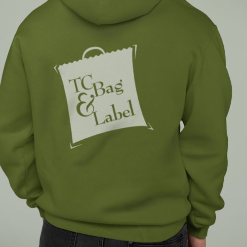 Atlanta Logo Designer Example: Silkscreened Green Hoodie/Sweatshirt (2021)