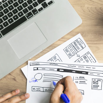 Atlanta web designer making business website wireframe mockup changes