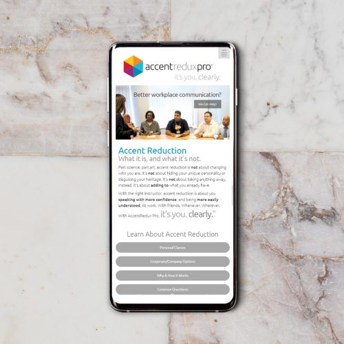 Atlanta Website Design: Company, Accent Reduction (Mobile/Phone Responsive )