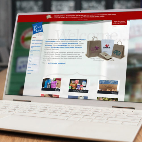 ATL Website Design (Wordpress Theme, Custom) on Laptop Screen for Small Business
