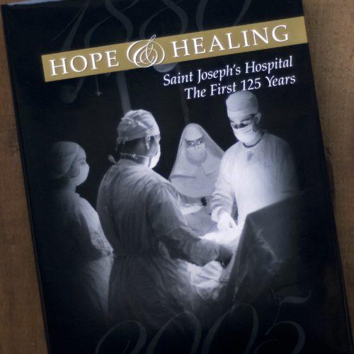 Book Design: Cover, Hospital Comemmorative Coffee Table Book, Saint Joseph's, Atlanta GA