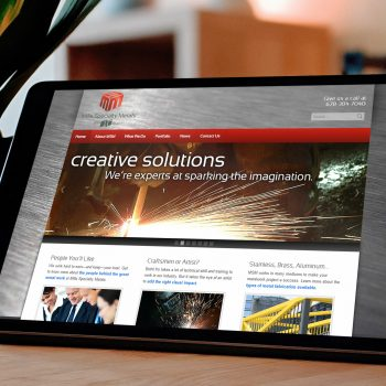 Custom Website Development/Wordpress Theme Design Atlanta Company, Mills Specialty Metals