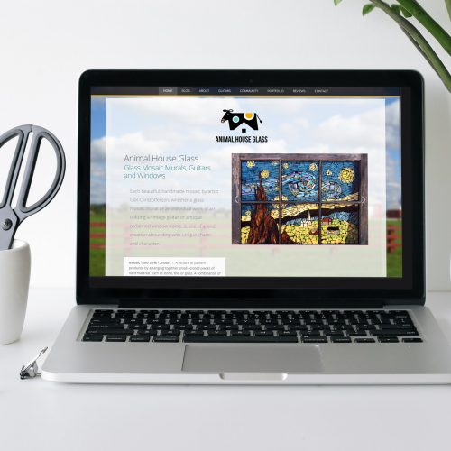 Fun, creative website design for artist, custom WordPress theme development