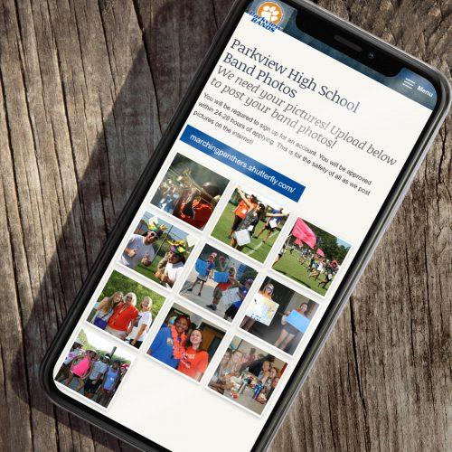 High School Marching Band Website Design--WordPress Theme, Custom, Atlanta/Gwinnett County