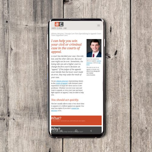 Lawyer Web Design Template, Freelance/Designer Agency Portfolio Sample