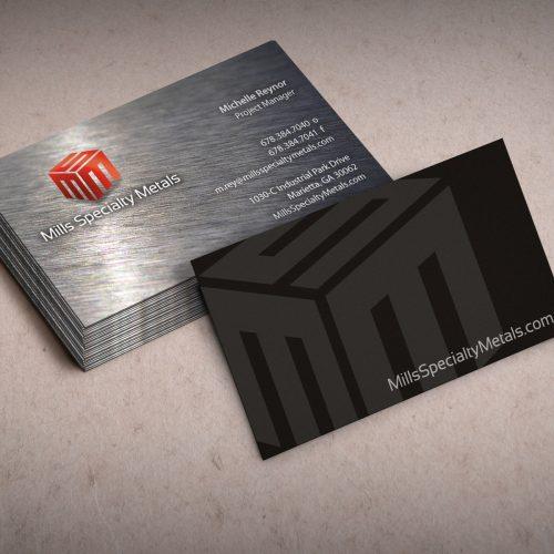 Logo Design/Business Card Designer, Atlanta Fabrication Company Mills Specialty Metals
