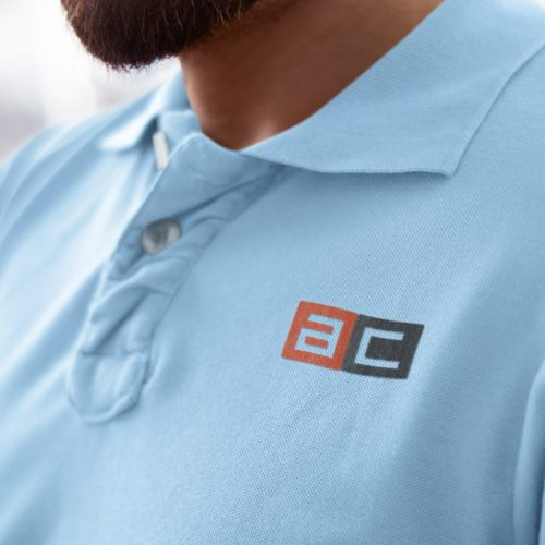 Logo Design on Embroidered Polo Shirt (Atlanta Law Firm)