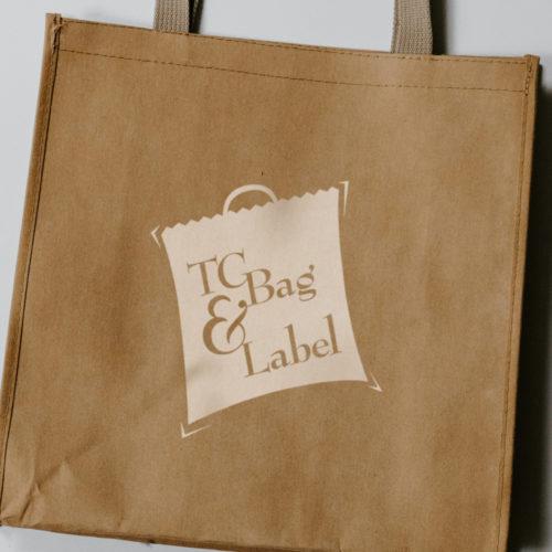 Logo Design Screen Printed on Reusable Shopping Bag (Atlanta Freelance Company)