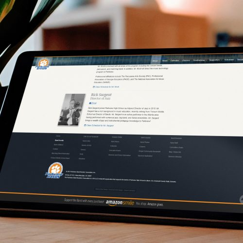 School Band Web Design, Agency Easy CMS Content Management System