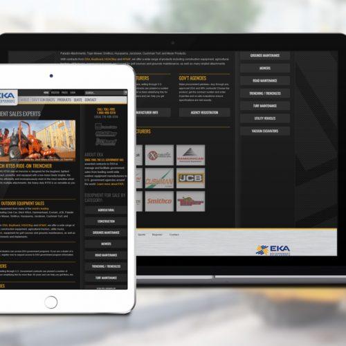 Web Design/Custom WordPress Theme for Atlanta GA company EKA sales.